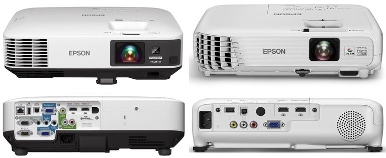 Epson Home Cinema 1440 (left) and 1040 (right)