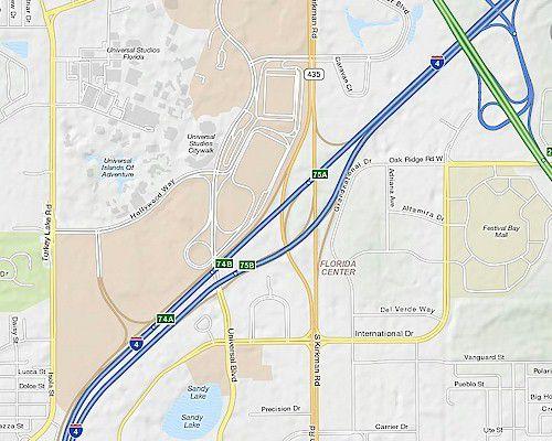 Orlando I Exits Interstate Florida - Orange county convention center map