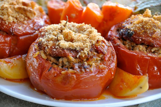 Yemista Stuffed Tomatoes With Rice And Ground Beef Recipe