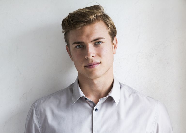 Portrait of young male fashion model