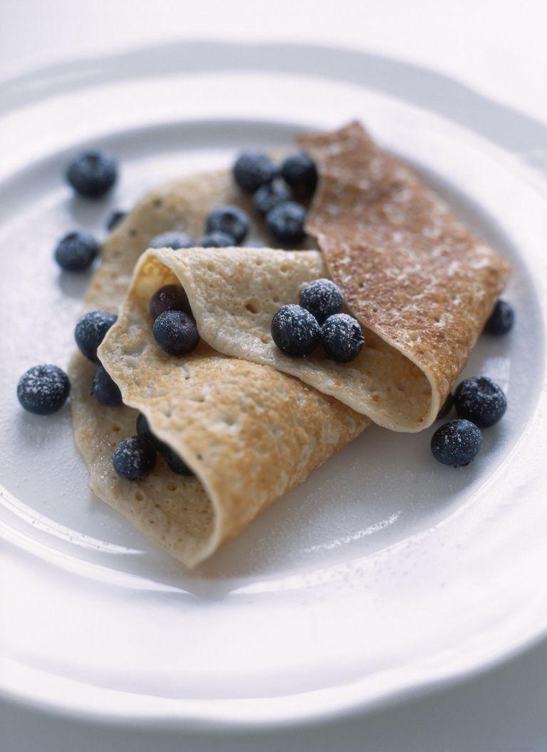 blueberry crepe