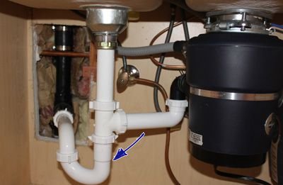 kitchen sink trap.  How To Install a Kitchen Sink Drain