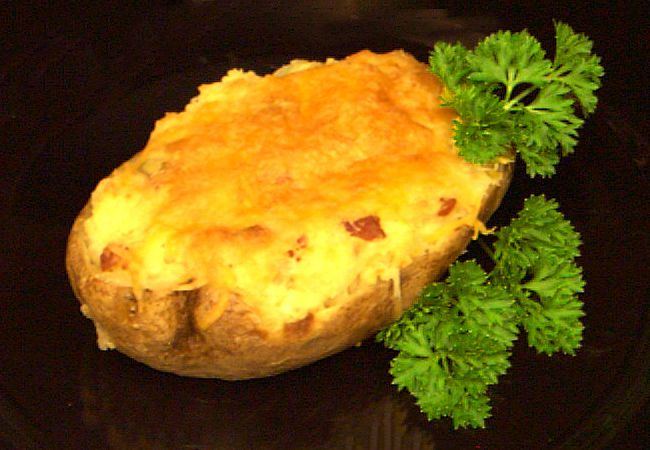bacon cheddar twice baked potatoes recipe vegetable receipt