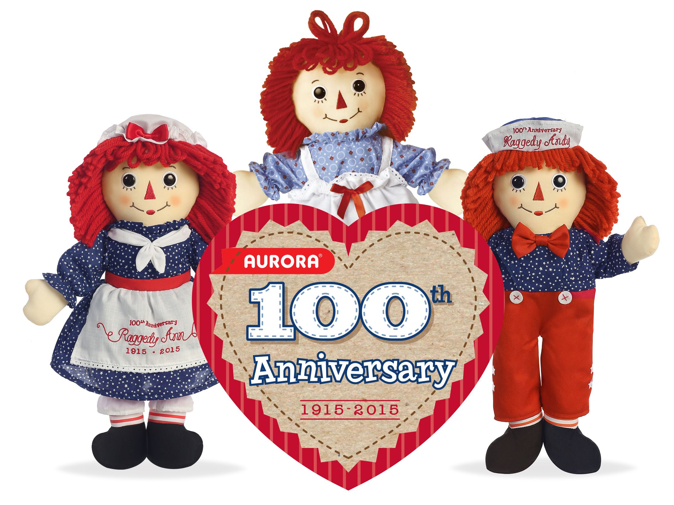 raggedy ann and andy dolls are 100 years old
