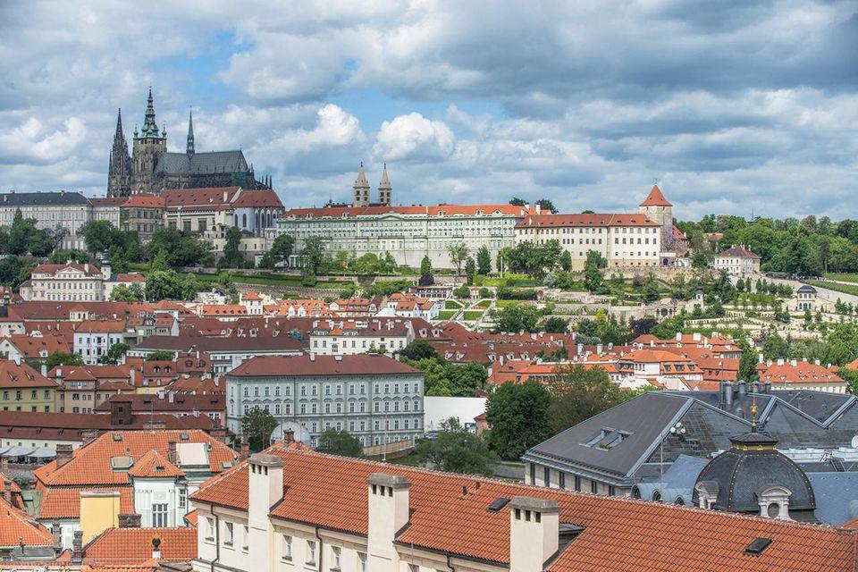 Prague Castle and city, Prague, Central Bohemia, Czech Republic