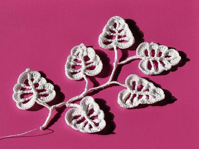 Irish Crochet Leaves Free Pattern
