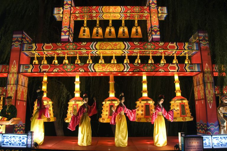 Lantern Festival at Yuanmingyuan - The Old Summer Palace - during the Mid Autumn Full Moon Festival