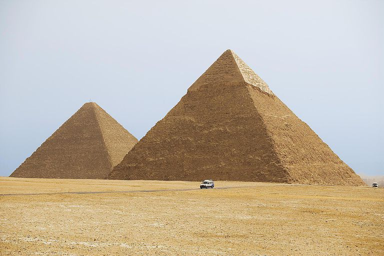 The Great Pyramids of Cheops, Chephren and Mycerinus in Giza, Egypt, are a UNESCO world heritage site.