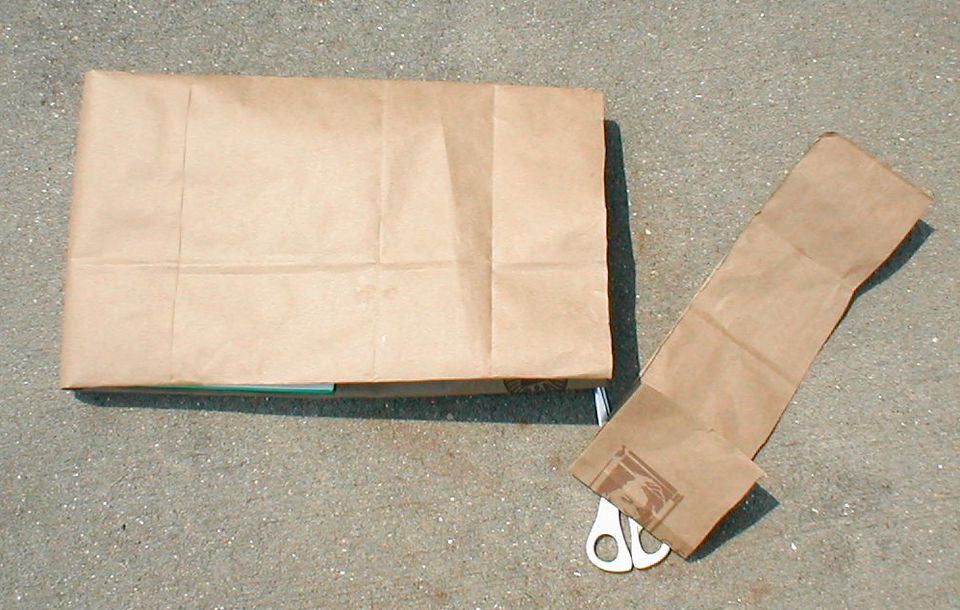 Book Cover From A Paper Bag : How to make a book cover with paper bag