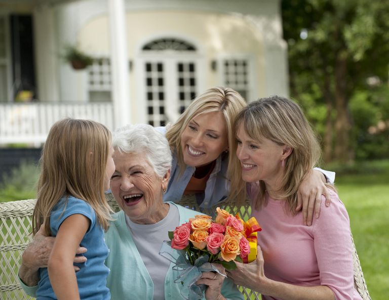 Three generations of women celebrating Mother's Day.