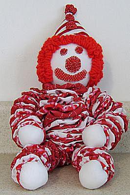 Free Pattern And Directions To Sew A Yo Yo Clown Doll