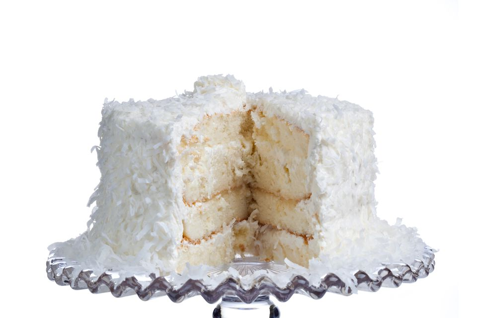 Fluffy White Coconut Layer Cake