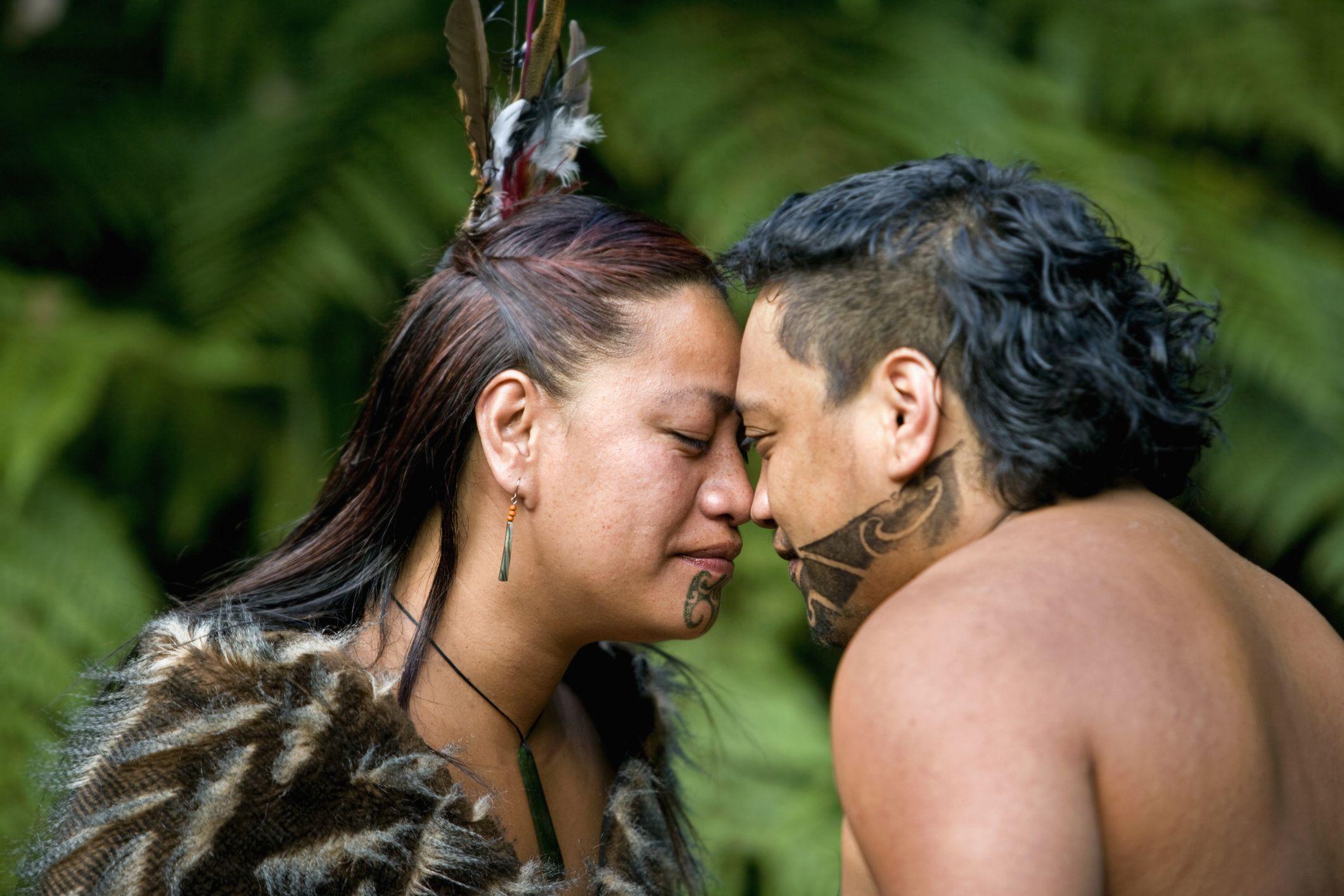 Maori Greeting Hongi