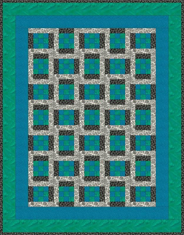 Easy Framed Nine Patch Quilt Pattern