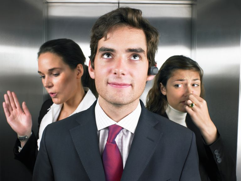 offensive odor in the elevator