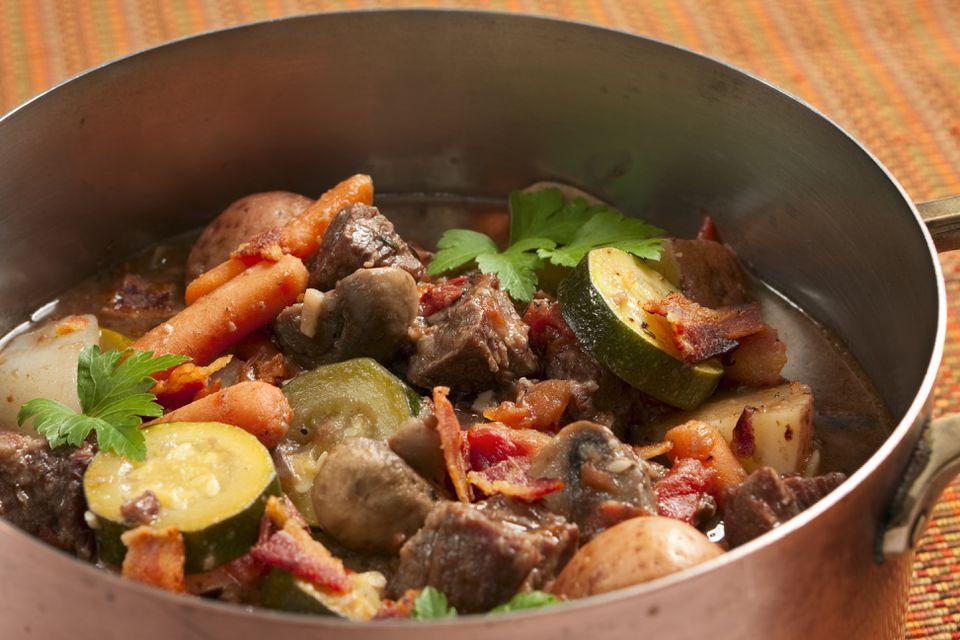 Pot of Healthy Beef Stew