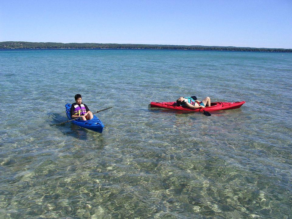 Kayaking on Torch Lake
