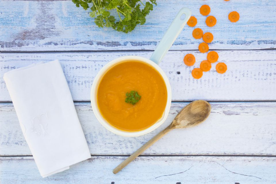 Carrot Ginger Soup with Chardonnay