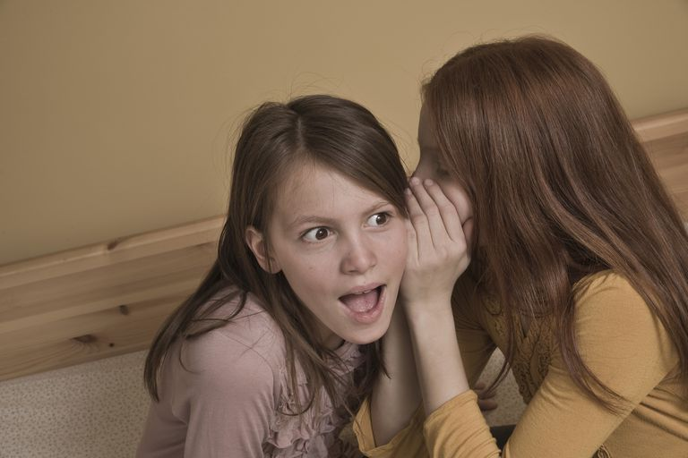 Preteen Girls Whispering