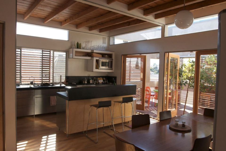 Amazing Remodeled Kitchen Design with Wood Beams