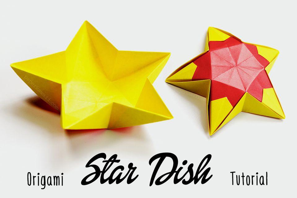 Origami Star Dish
