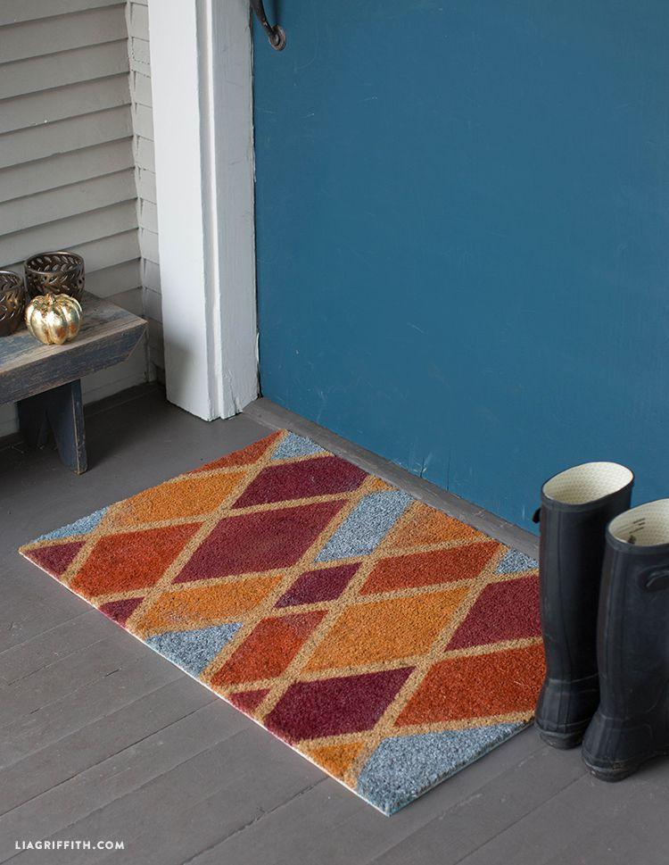 DIY Colorful Fall Doormat