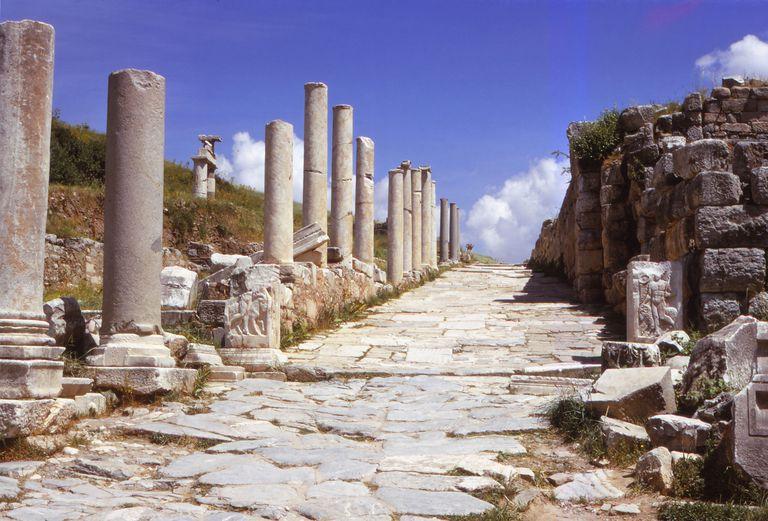 Curetes Street in Ephesus, Turkey, Leading to the Agora
