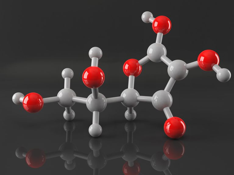 This is the molecular model of vitamin C or ascorbic acid. The molecular formula shows all the atoms in a compound while the simplest formula indicates the ratio of elements.