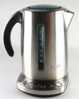 An image of the modern, chic, brushed stainless steel Breville Variable Temperature Kettle
