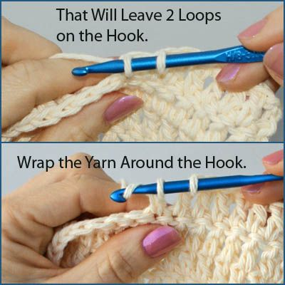 Working the Double Crochet Stitch