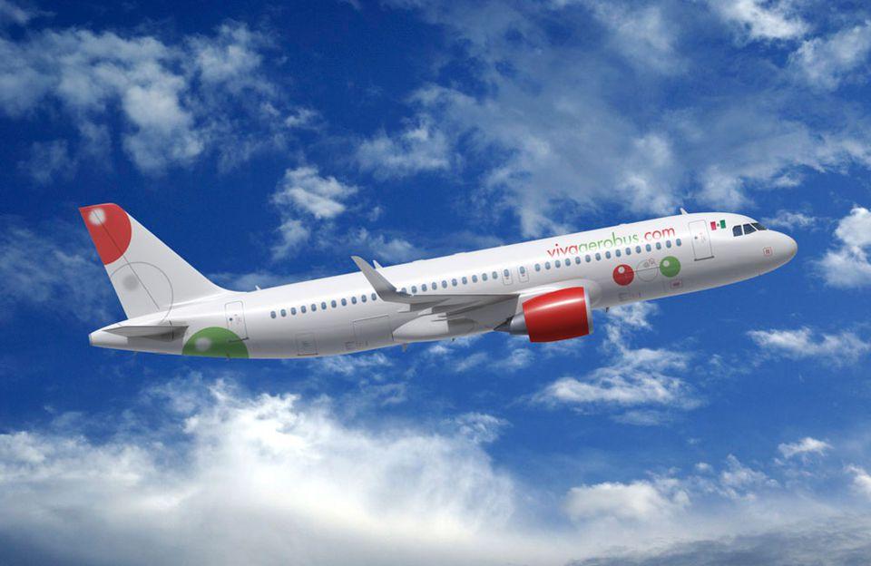 VivaAerobus Plane in flight