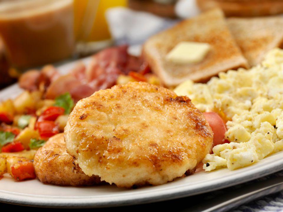 Fried Grits for Breakfast