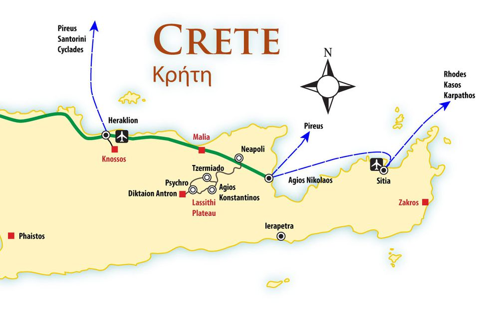 Crete Location Map and Travel Guide