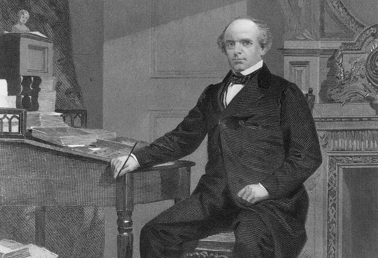 Engraved portrait of Salmon Chase