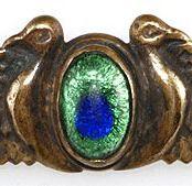 Peacock Eye Glass Cabochon