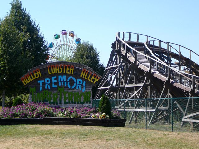Entrance to Roller Coaster Alley at Silverwood Theme Park