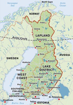 Maps Of Scandinavia - Norway lakes map