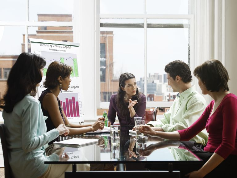 Five Business People in a Meeting