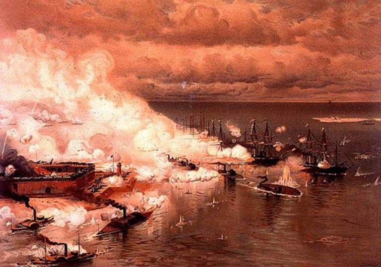 Fighting in Mobile Bay