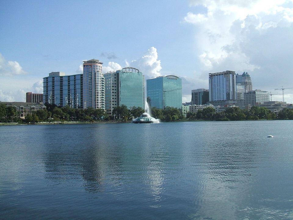 The Orlando Skyline and Lake Eola