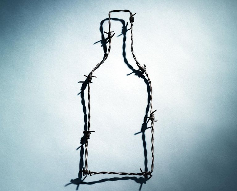 Bottle shaped barbed wire.