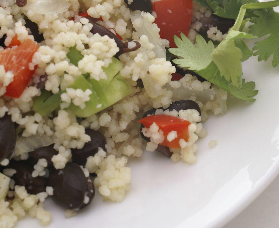 Black bean couscous
