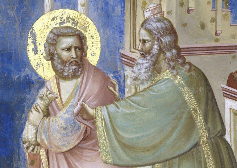 Expulsion of Joachim From Temple by Italian Artist Giotto di Bondone, fresco