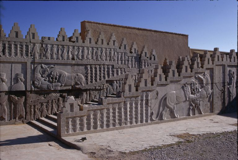 Relief Sculpture on Apadana Stairway at Persepolis