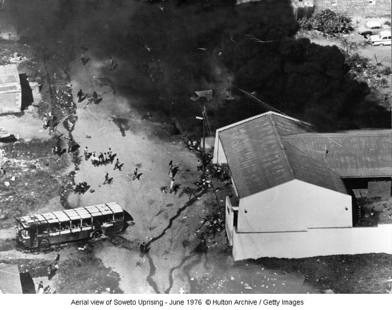 Aerial view of Soweto Uprising - June 1976 ©