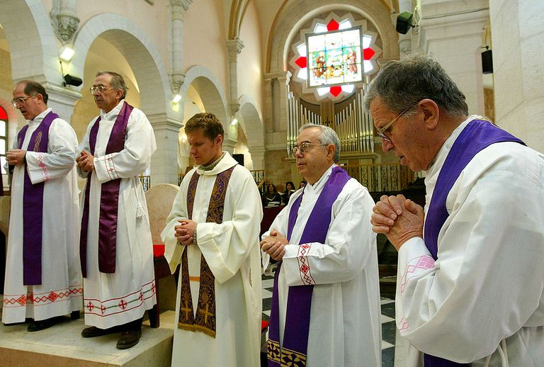 Catholic Priests at Prayer