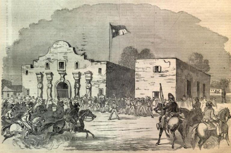 Fighting at the Alamo