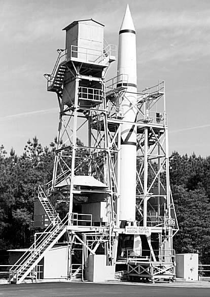 Redstone Rocket in Test Stand