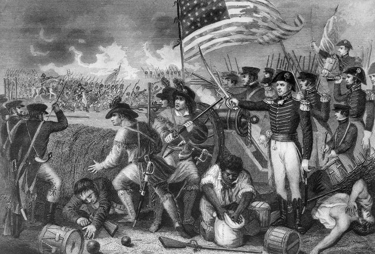 Fighting at the Battle of New Orleans, 1815