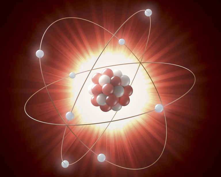 Atomic model, illustration